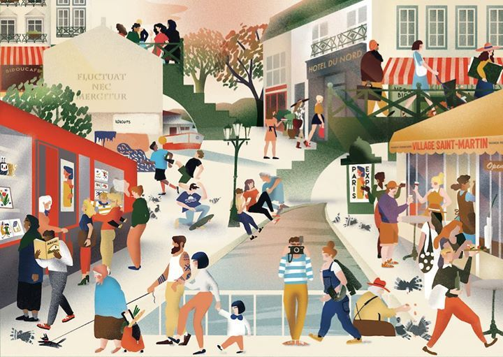 Guide Village Saint-Martin saison 2016/2017. Illustrations Charlotte Molas.