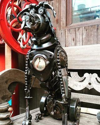 Riek's Mohane Studio: BOXER Metal Art Sculpture