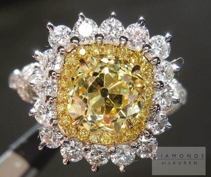 HaloVivid Yellow Diamond Ring |