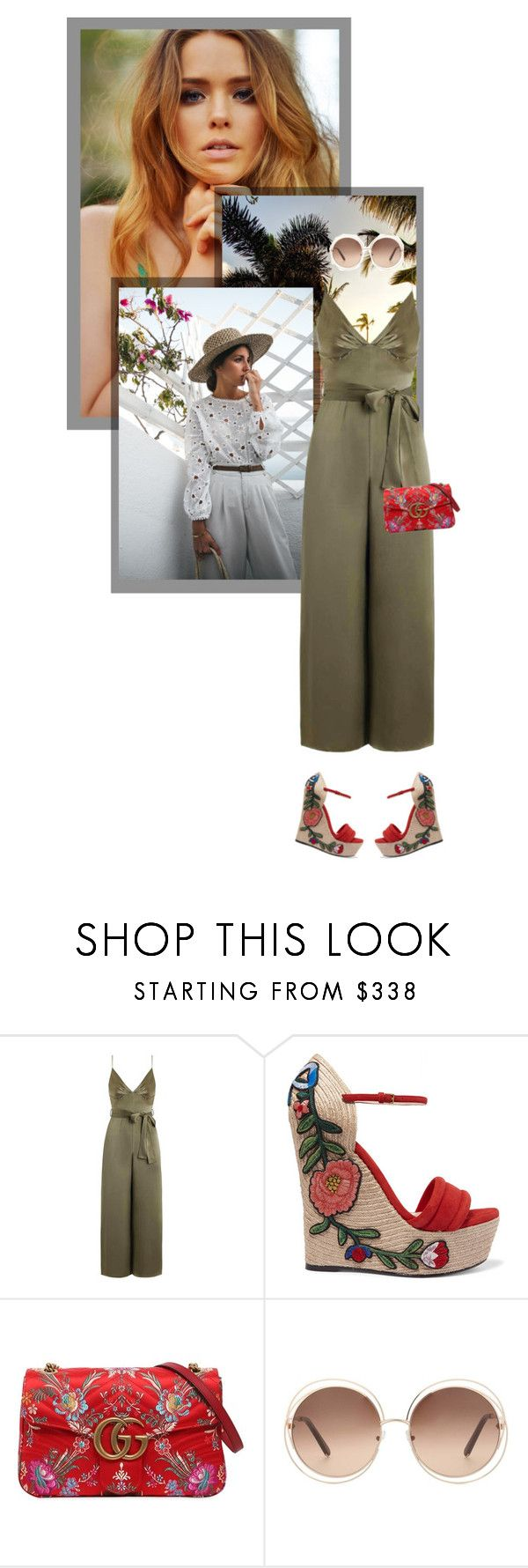 """""""playa sunset hour"""" by itsevaa ❤ liked on Polyvore featuring Zimmermann, Gucci and Chloé"""