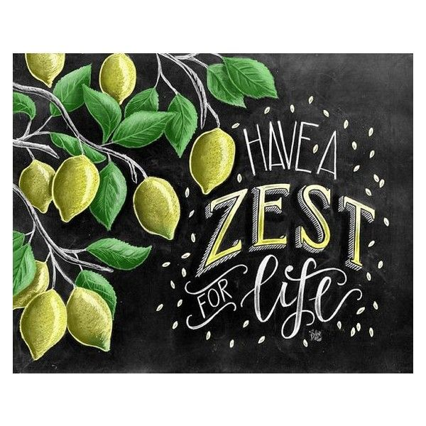 Lemon Print, Lemon Art, Chalk Art, Chalkboard Art, Lemon Tree, Zest,... ❤ liked on Polyvore featuring home, home decor, wall art, typography signs, tree wall art, lettering signs, word wall art and text signs