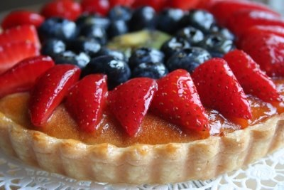 Mom's favorite dessert (and sometimes breakfast) is a deliciously fresh Fruit Tart #uncommon #contest
