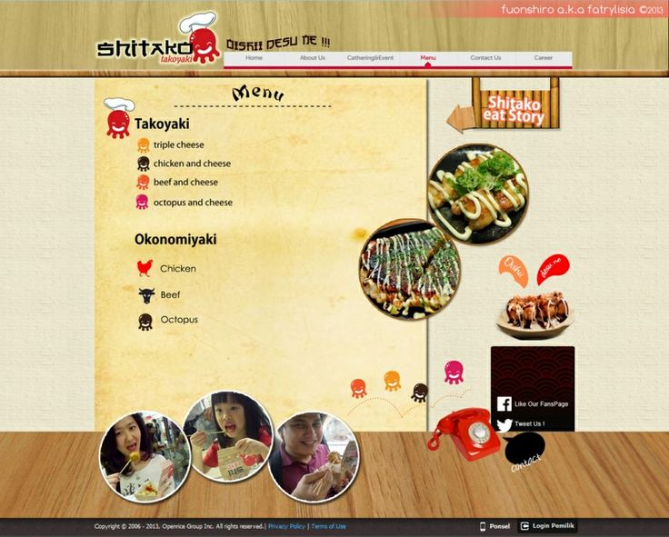 Web Design | Shitako Takoyaki | Kreavi.com