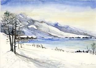 Aquarelle Kaufen - Winterimpression