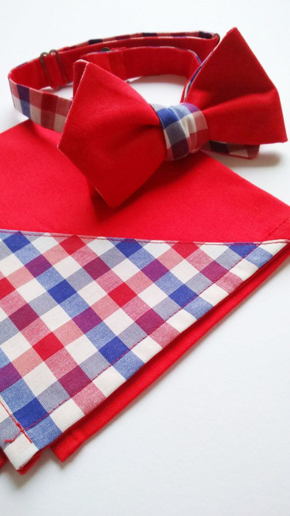 Bow tie for men and pocket square set  by goldenbeastsfashion