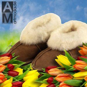 Feine #Kinderhausschuhe aus echtem #Lammfell, Gr. 26 bis 38 (werden auch von #Damen gerne getragen)