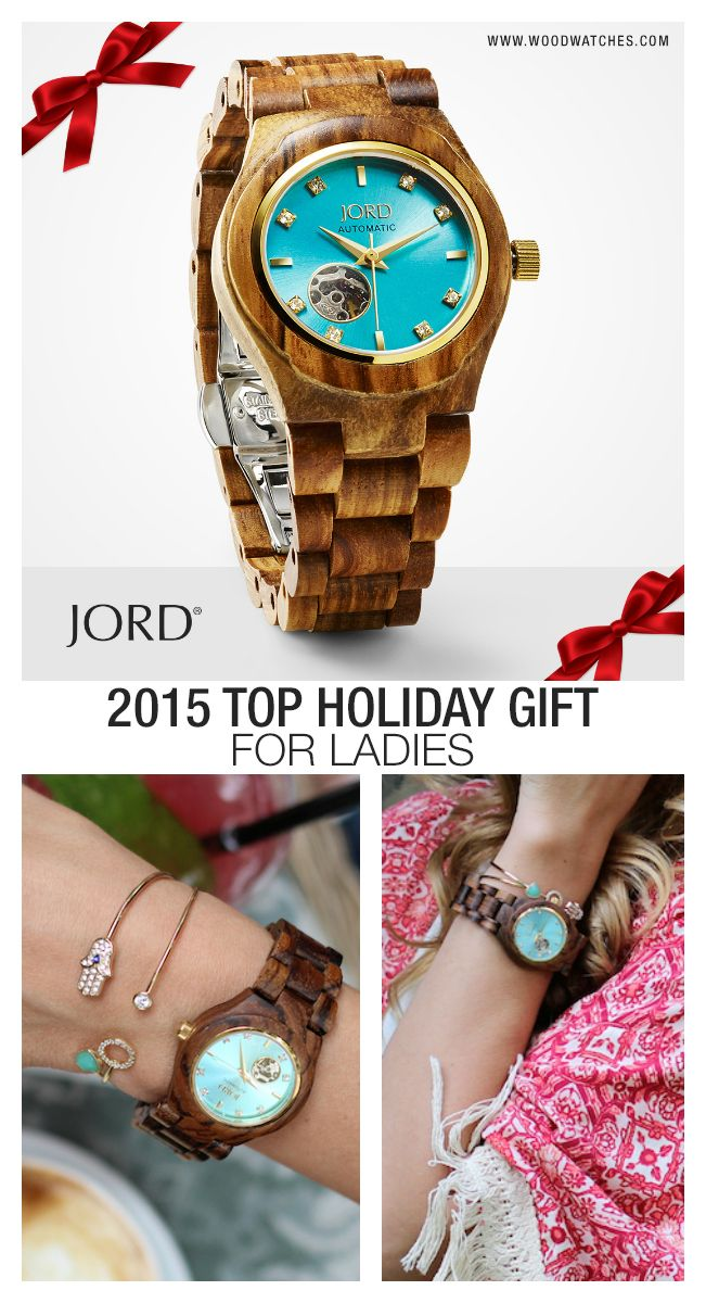 Don't miss out on the 2015 top gift for the holidays! JORD's line of hand crafted, high design timepieces are unique, unexpected, and will be unforgettable on Christmas morning! Click on the image above to see the JORD Cora Series, 21 jewel automatic movement with exhibition back and sapphire crystal. Limited stock through the holidays with free shipping worldwide! Find the perfect gift today at www.woodwatches.com