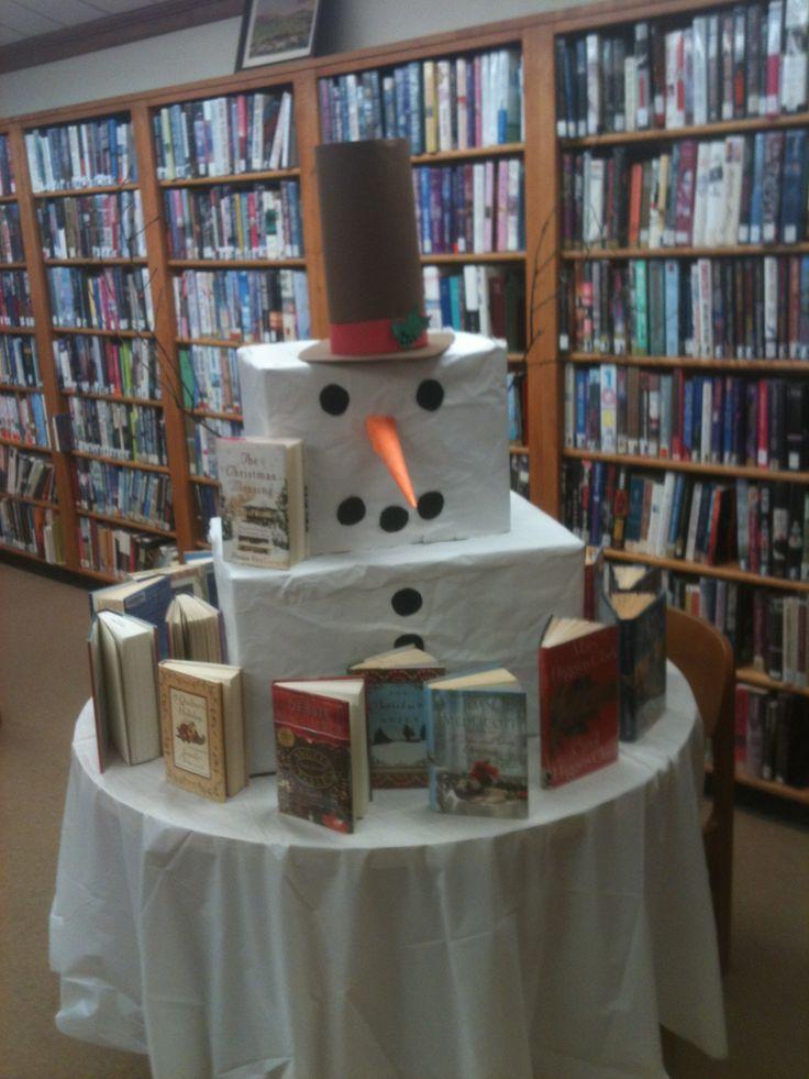 Snowman book display Library Displays Pinterest