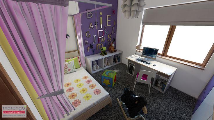 minimalizm w domu w Niepołomicach, pokój dziewczynki