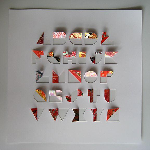 Papercut alphabet