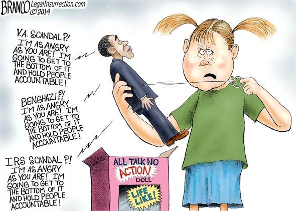 Obama All Talk - A.F.Branco Cartoon