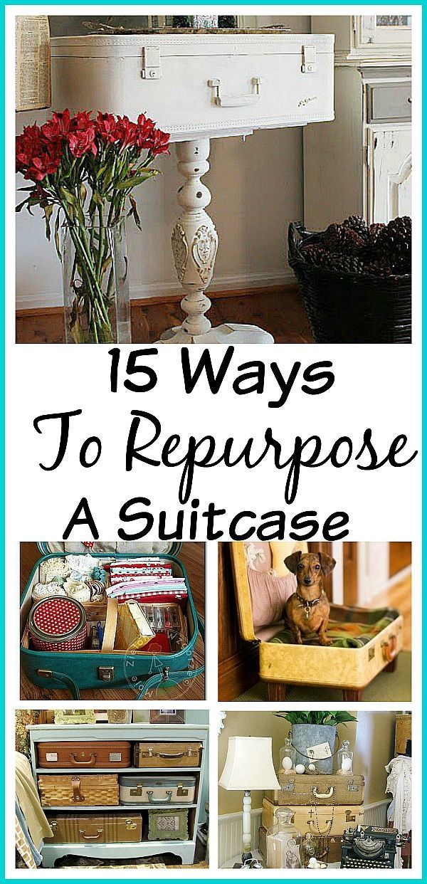 15 Ways to Repurpose A Suitcase!  Check out these creative ideas!