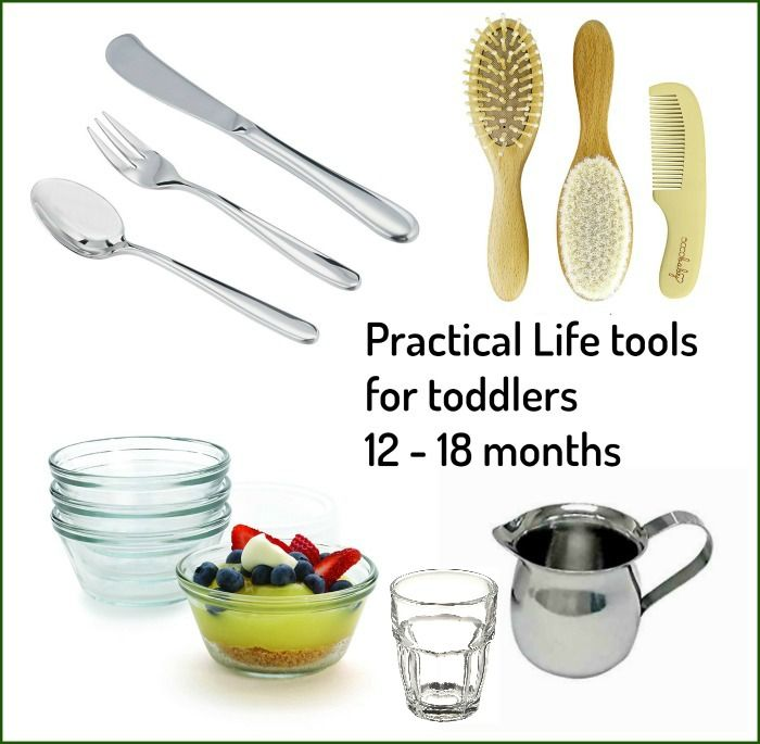 Practical life tolls for toddlers 12- 18 months Montessori Nature Blog