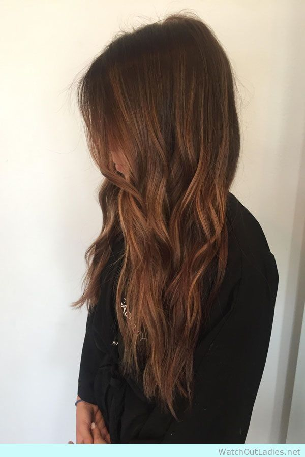 warm rich brown with golden highlights. Amazing Hair color for fall season! Check more! <3