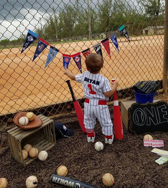 Pinstripe Baseball Uniform Boys Baseball Uniform Sportswear Boys Baseball Photo PropBoys 1st BirthdayBaseball MascottMYSWEETCHICKAPEA