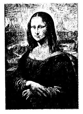 van gogh rubber stamps | Frantic Stamper Cling-Mounted Rubber Stamp - Mona Lisa