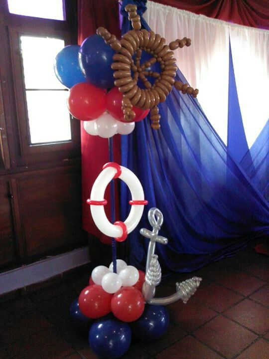 Marine baby shower cakes party ideas pinterest for Anchor decoration party