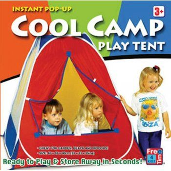 Free Time 4 Kidz Cool Camp Play Tent - Approx 85 X 85 X 90 cm. Ready to play in seconds