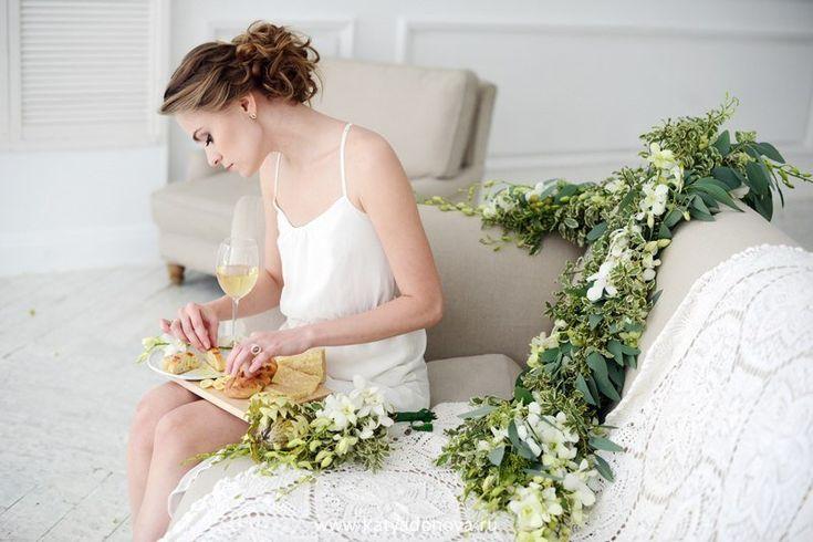 Утренний завтрак невеста