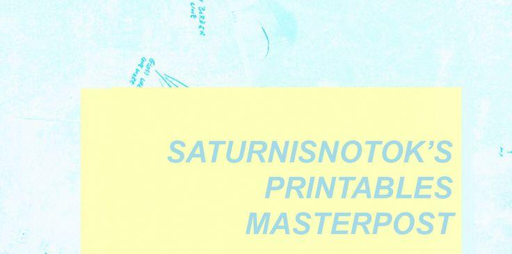 Printable masterpost
