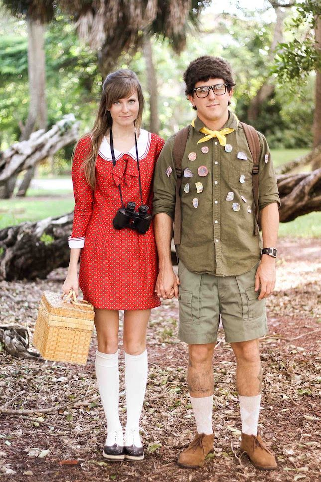 His & hers outfits inspired by Suzy and Sam from Wes Anderson's Moonrise Kingdom