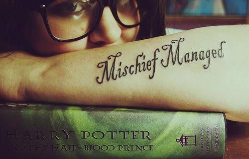 Mischief Managed – Einfache und subtile Harry Potter Tattoos #Tattoosonback