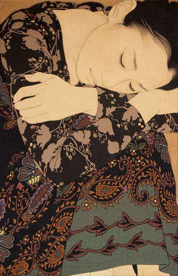 060 「星の消ゆるを待つ・幸子」 cm xcm 2010 麻布・岩絵具・水干・膠・墨・金泥 Linen Canvas/Mineral pigments/ Gelatin glue/Soot ink/Pure gold