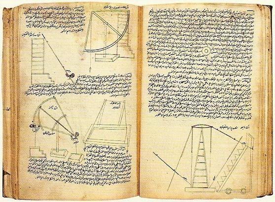 Astronomical instruments of Taqī al-Dīn. Images taken from Tafsīr ba'dh al-ālāt al-rasadiyya: Source: Kandilli Rasathanesi El Yazmalari 1: Türkçe Yazmalar, edited by Günay Kut, Istanbul: Bogaziçi Üniversitesi Yayinevi, 2007, 39.