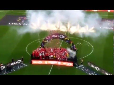 BENFICA | Benfica Recebe a Taça de Campeão Nacional !!!