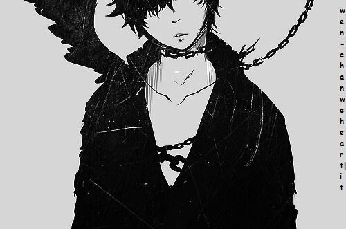 B&w Cool Cool Anime Boy Cool Boy Demon Manga ♥