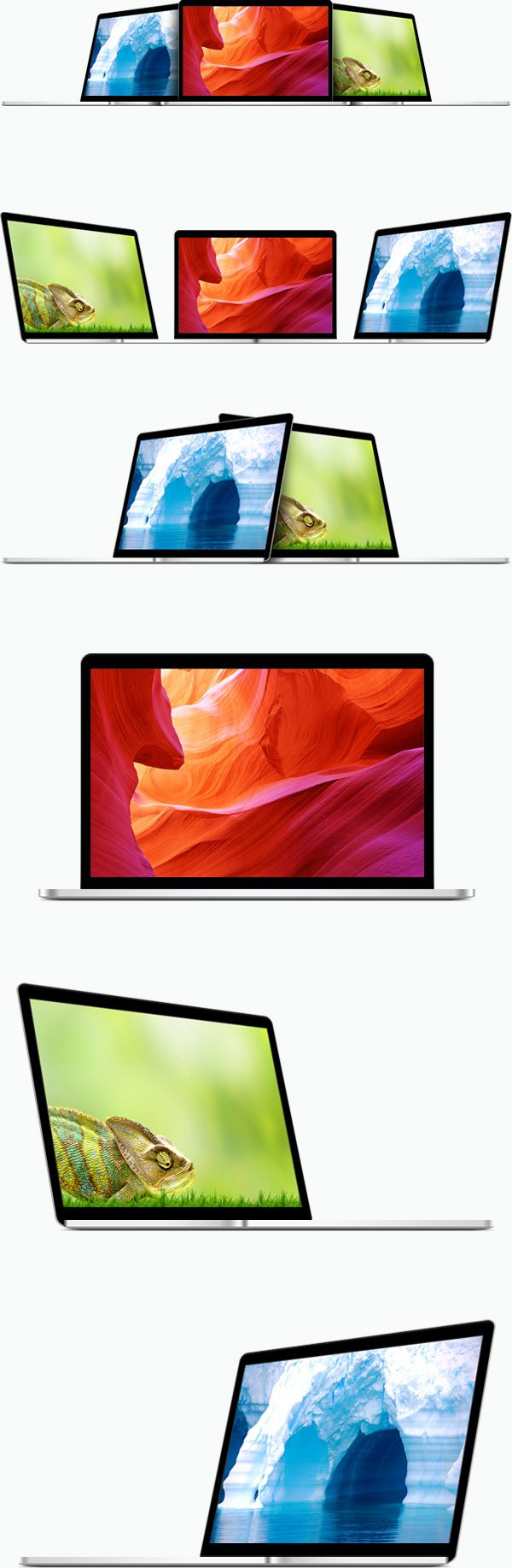 Free Macbook template graphic PSD download