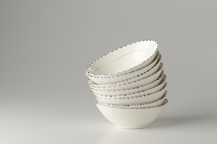 A Stack of Oblong Bowls
