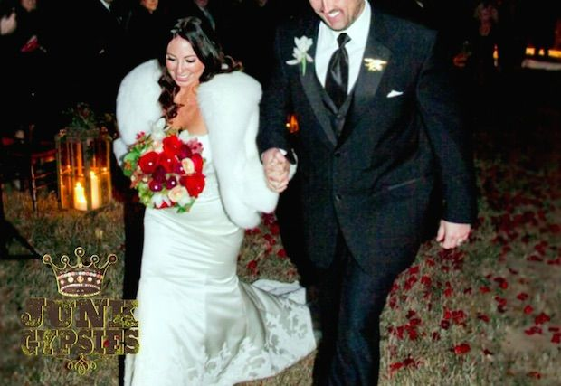 Marcus Luttrell and wife, Melanie @ladyluttrell  //// read about the wedding dress turned flag (Image source: Great American Country / Junk Gypsies)