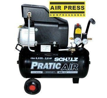 Compressor de Ar Pratic Ar Csa 8,2/25 com oleo Schulz