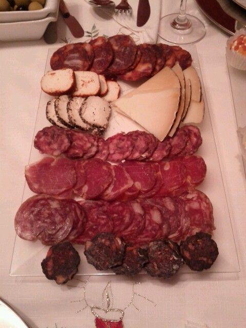 Plato de ibéricos y quesos para la cena de Navidad!
