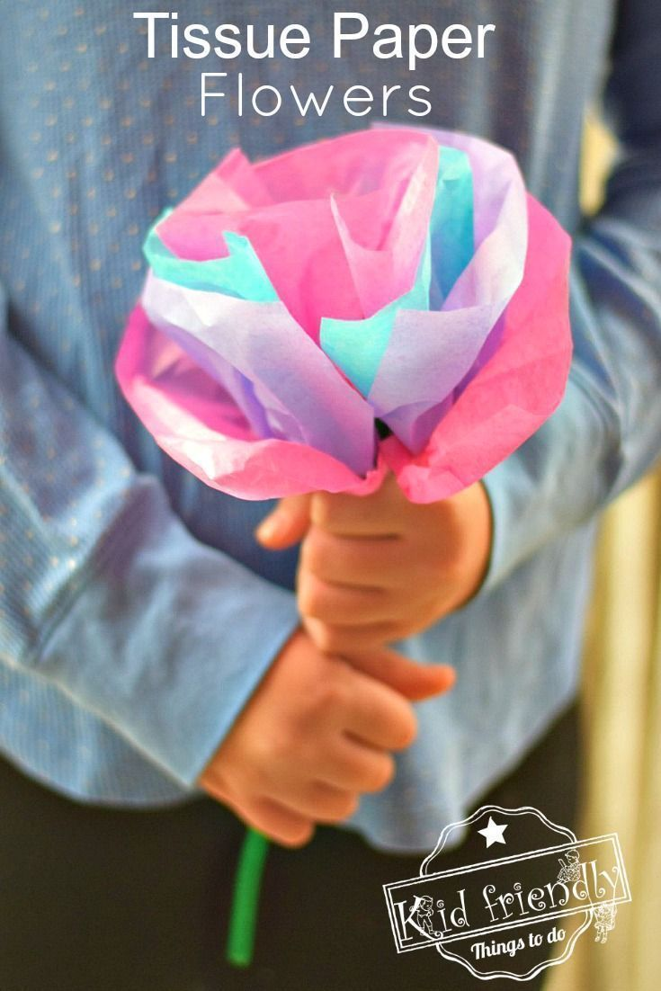 Diy tissue paper flowers for kids to make with pipe cleaners in 2018 how to make easy diy tissue paper flowers for kids parents will treasure these simple flowers perfect for preschool and younger kids but great for older mightylinksfo