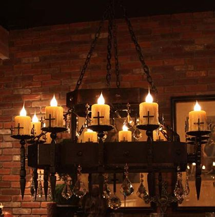 Gothic Room Decor Candle