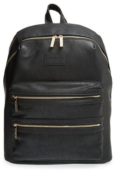 Love this chic diaper bag. The Honest Company 'City' Faux Leather Diaper Backpack