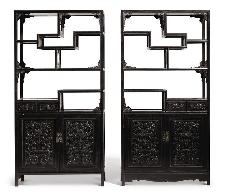les 76 meilleures images du tableau tag res chinoises sur pinterest mobilier chinois art. Black Bedroom Furniture Sets. Home Design Ideas