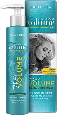 John Frieda 7 Day Volume In Shower Treatment!!! Cannot wait to try this stuff, my hair needs a serious lift!