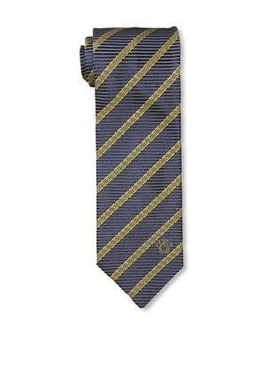 Versace Men's Greek Diagonal Tie, Gold/Navy