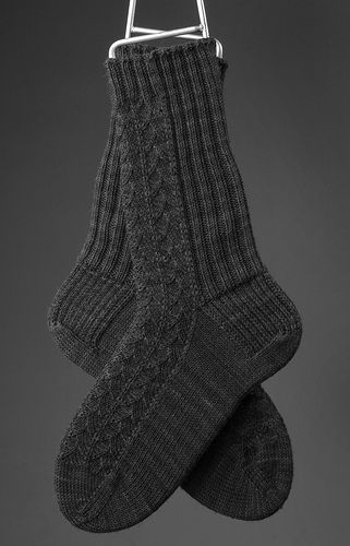This is a toe-up sock with a backwards Dutch