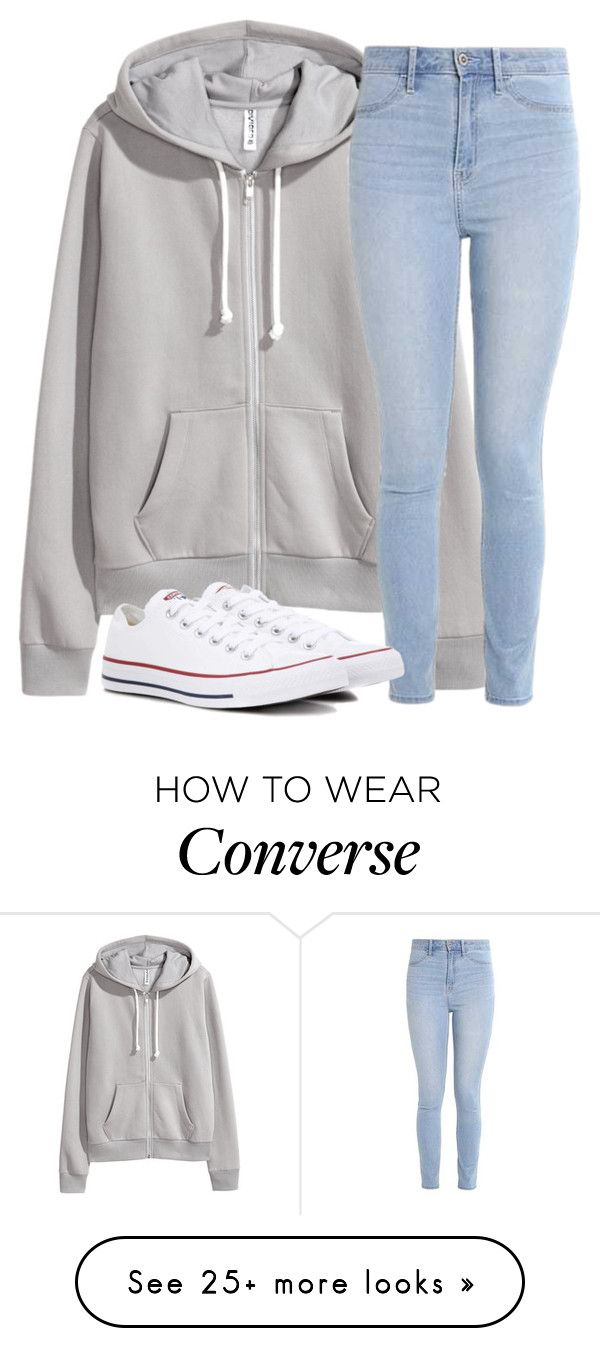 """Untitled #2730"" by laurenatria11 on Polyvore featuring Hollister Co. and Converse"