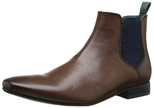 Ted Baker Men's Hourb Chelsea Boot, Brown Leather, 12 M US - http://authenticboots.com/ted-baker-mens-hourb-chelsea-boot-brown-leather-12-m-us/