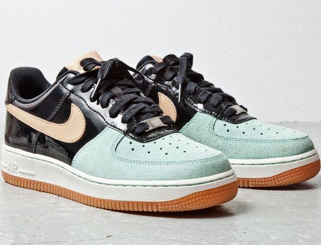 Nike Air Force 1 Low – Tan / Mint - Black