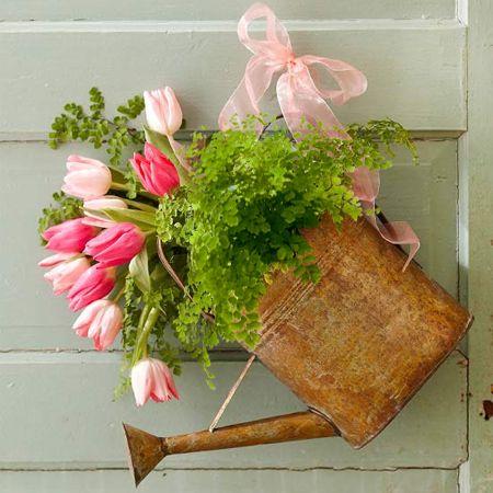 tulips fresh spring flower arrangement display