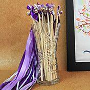 Lilac Wedding Ribbon Wand--(Set of 10) – USD $ 6.99