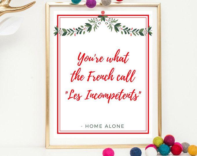Christmas Wall Art Printable Home Alone Printable Christmas Printable Home Alone Quote C Christmas Movie Quotes Christmas Wall Art Love Actually Quotes
