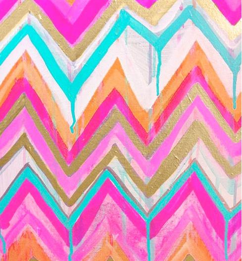 aztec pattern love the wet paint effect.