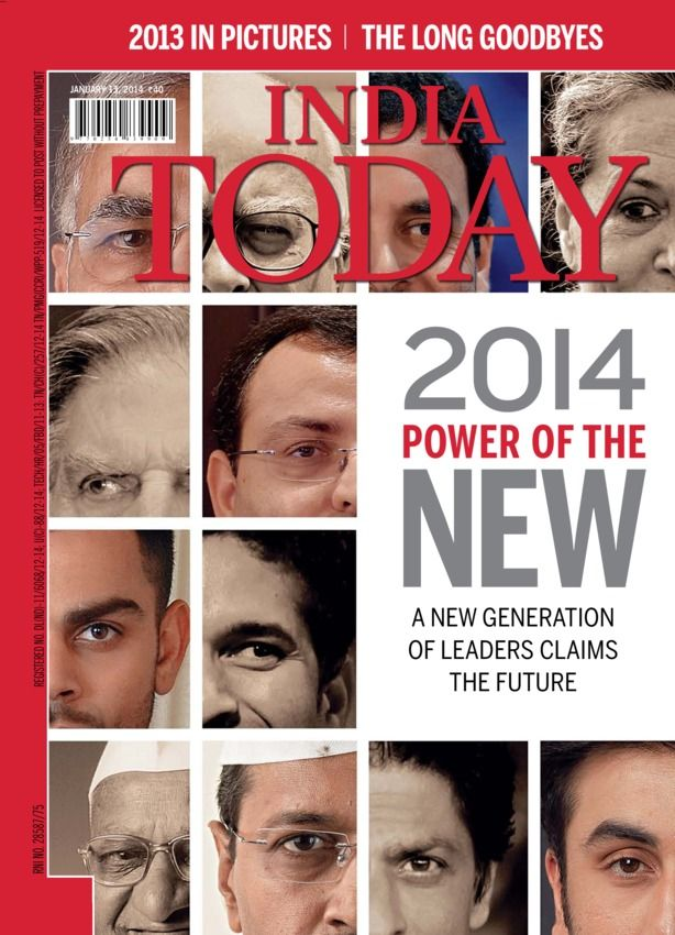 India Today - January 13, 2014 : Highlights of India Today issue dated January 13, 2014 The January 13, 2013 issue is a yearender special edition. The cover story throws light on how India in 2013 will yield to India in 2014. The story tells us about the new generation leaders who will rule our future. This edition gives us a list of events that grabbed our attention in sports, business, politics, society, cinema in 2013. You ca...   More